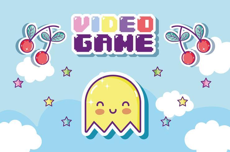 Retro videogame tecknad filmkoncept