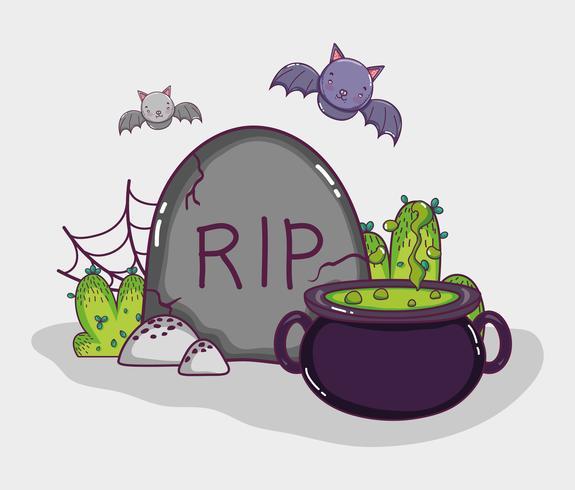 Halloween cartoons concept