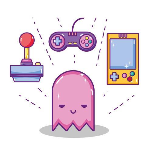 Conceito de desenhos retrô videogame