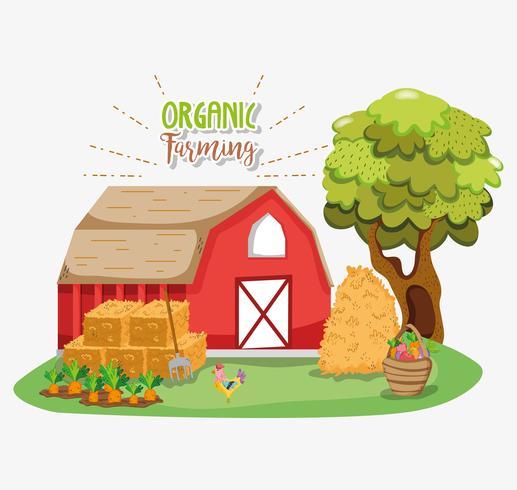 Dibujos animados de agricultura ecológica