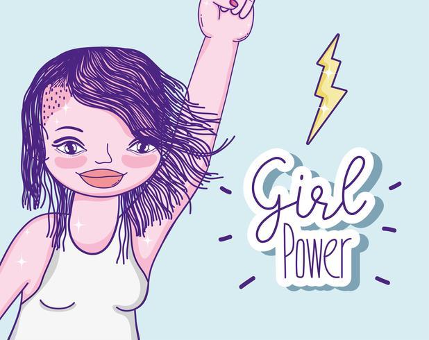 Cartoon power girl