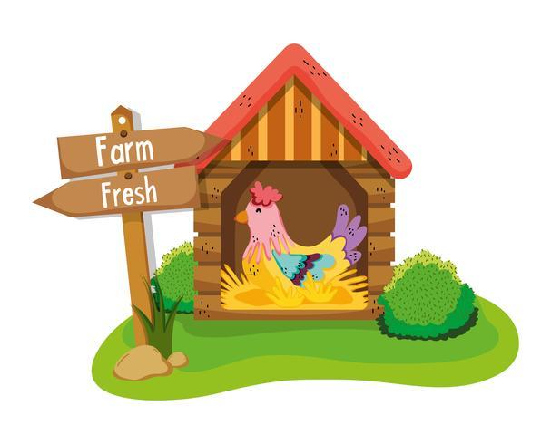 Concepto fresco de la granja