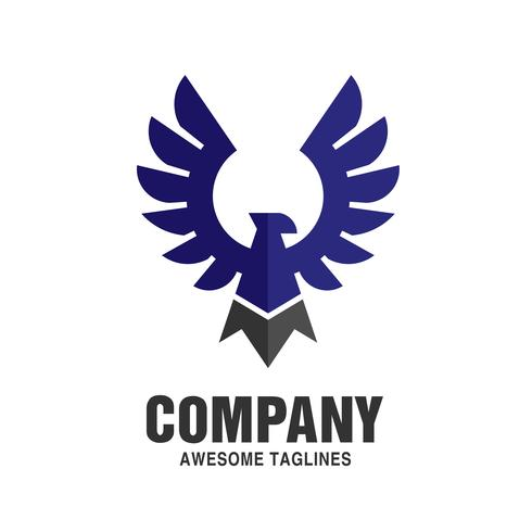 Logotipo da cor do pássaro da águia vetor