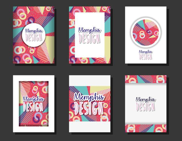 Memphis templates and backgrounds