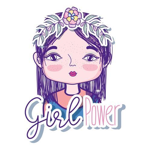 Mädchen macht Cartoon