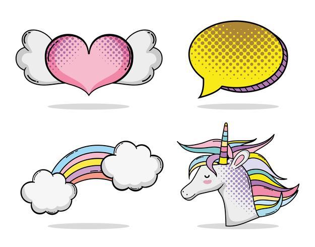 Serie di cartoni animati pop art