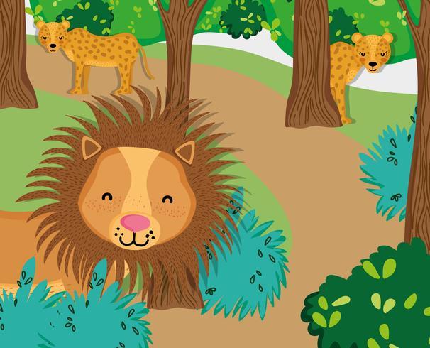 Niedliche Tiere der wild lebenden Tiere