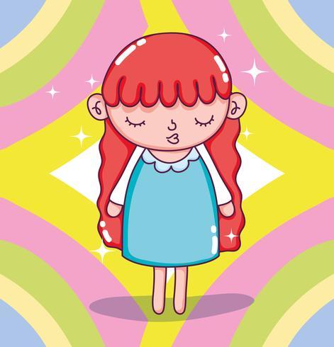 Cartoni animati bella ragazza vettore
