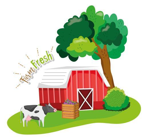 Conceito fresco fazenda