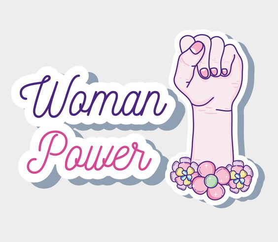 Woman power cartoon