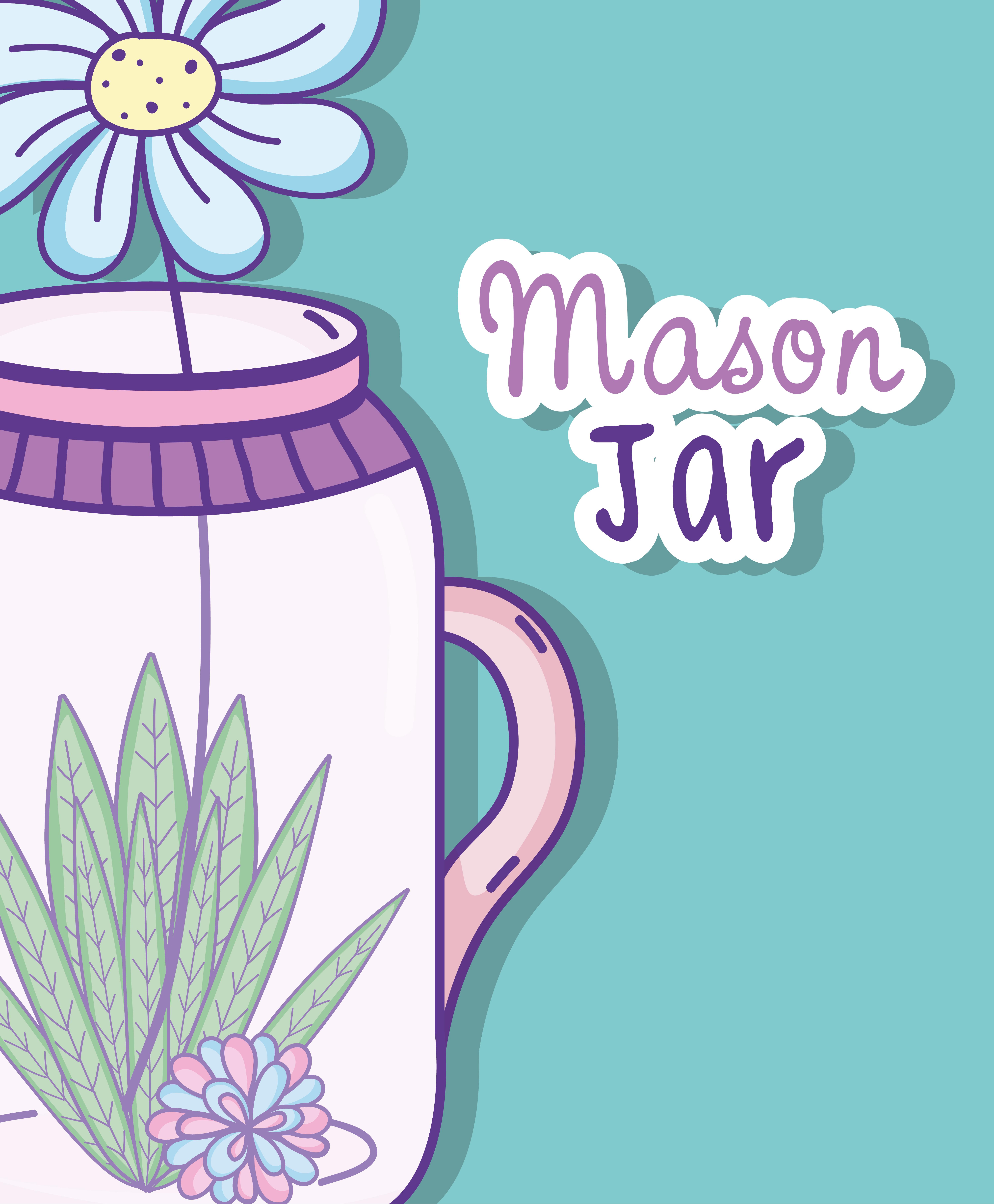 Garden mason jar cartoon - Download Free Vectors, Clipart ...
