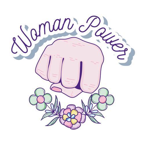 Desenhos animados de poder de mulher