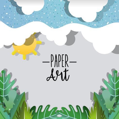 Scenario di natura artistica di carta