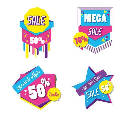 Satz des großen Verkaufseinkaufsplakats