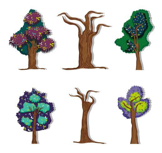 Conjunto de árvores florestais