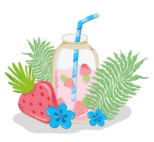 Heerlijke zomersap cartoon