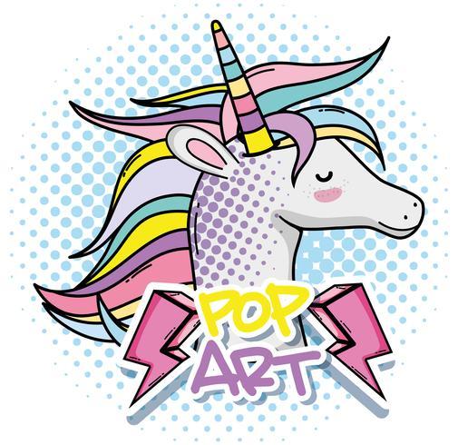 Unicorno di pop art