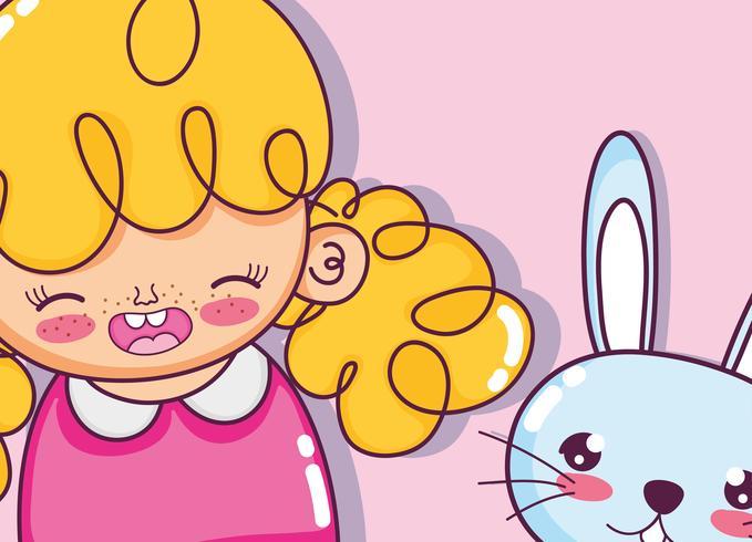 Dibujos animados hermosa niña