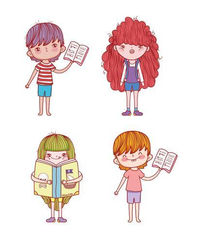Stellen Sie Jungen und Mädchen mit Buchinformationen ein