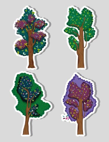 Uppsättning av skogsträd