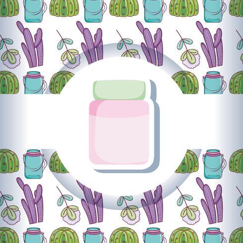 Barattolo di vetro con pattern di sfondo