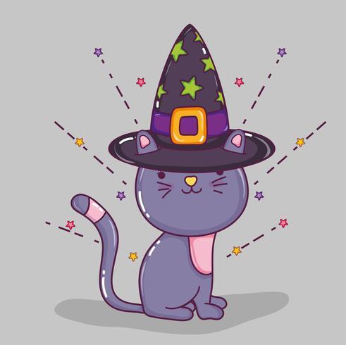Dibujos animados de gato de Halloween