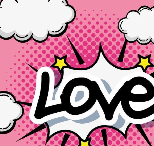 Amor pop art vector