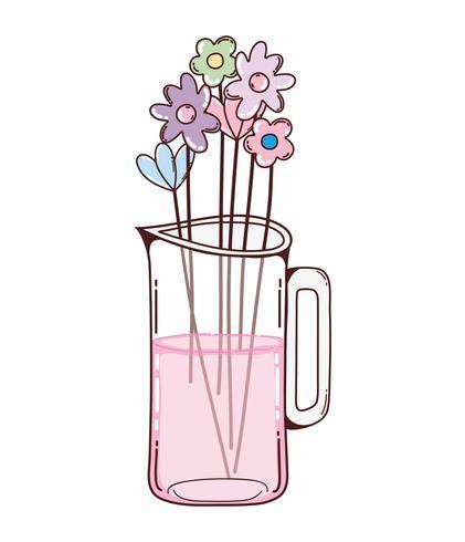 Bouquet flowers in mason jar