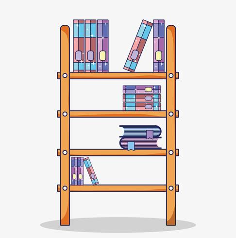 Wooden library cartoon