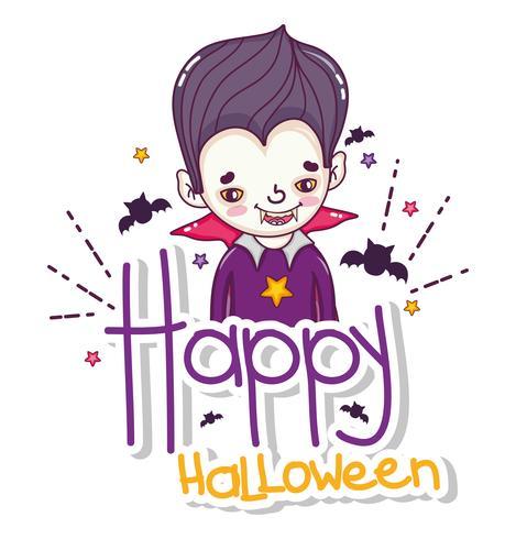 Happy halloween card cartoons vector