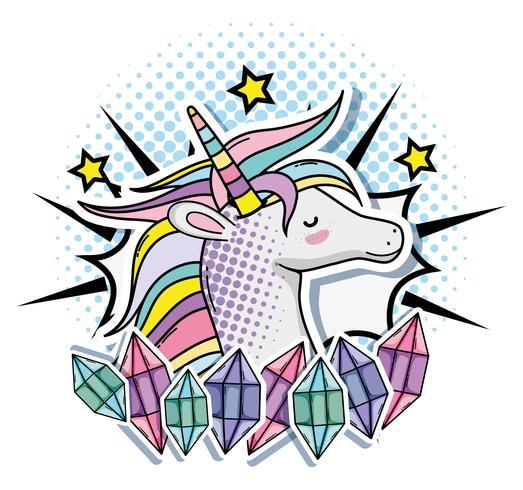 Unicornio del arte pop