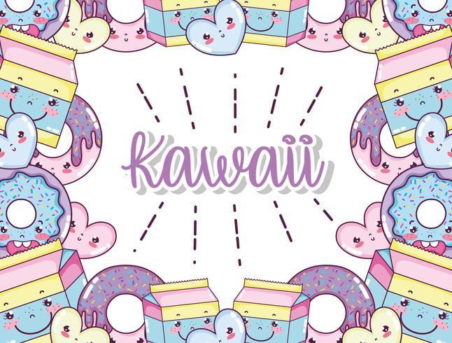 Kawaii cute cartoons