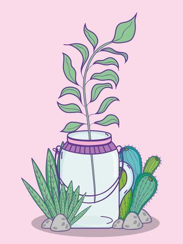 Fumetto del barattolo di muratore del giardino