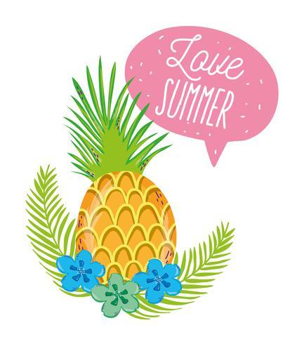 Amour des dessins animés d'été