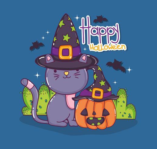 Halloween kat tekenfilms