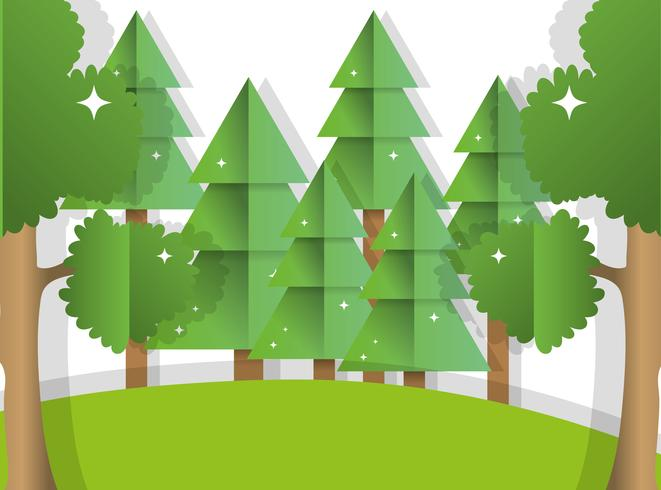 Papierkunstwald