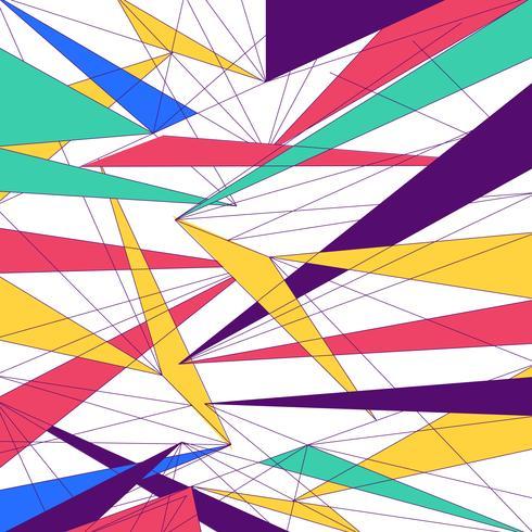 Lignes colorées modernes abstraites triangle fond de conception tendance futuriste.