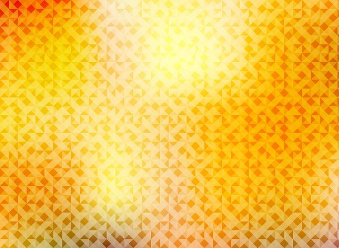 Autunno astratto con motivo a triangoli che brilla di colore rosso, giallo e arancione brillante.