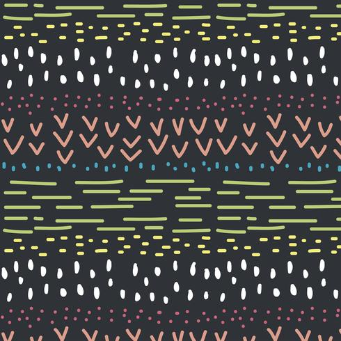 Doodle motif coloré