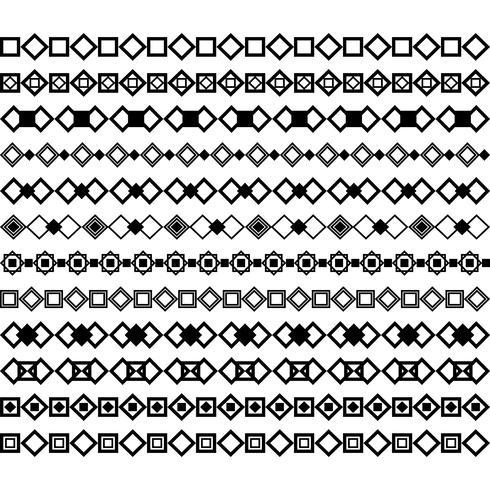 Collezione di divisori vettoriali. Può essere utilizzato per design, lettere, gioielli, regali, quaderni