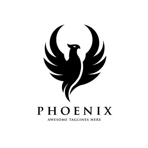 concetto di logo uccello fenice