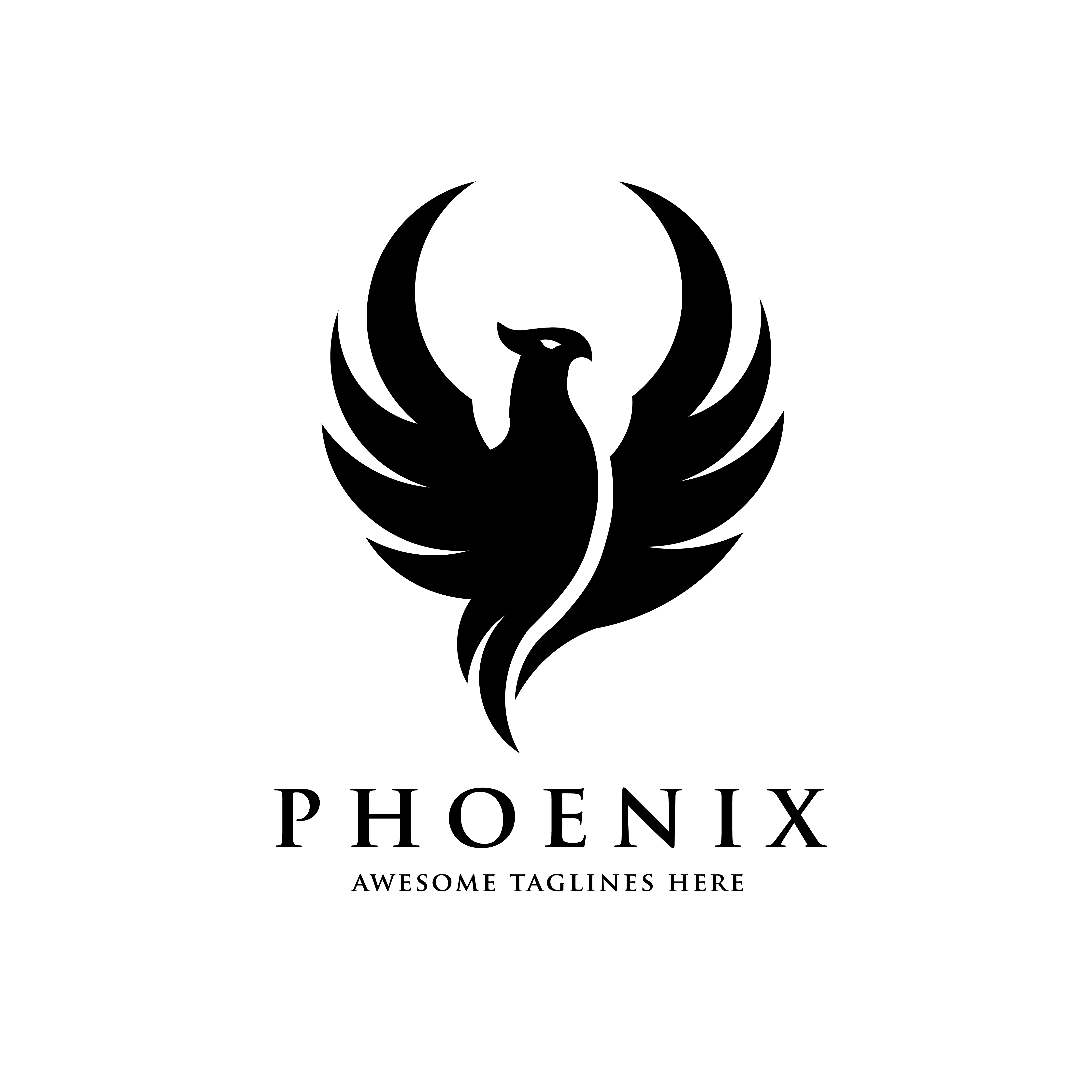 vector-phoenix-bird-logo-concept Letter Template On Head on acenda health, trellis company, professional media, academy hospitality tourism, my family twitter, it department,