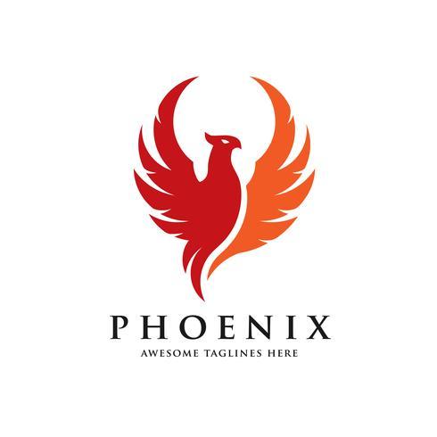 concepto de logotipo de aves phoenix