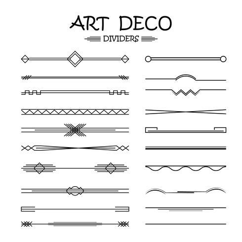 conjunto de divisores para o design de suas idéias. vetor