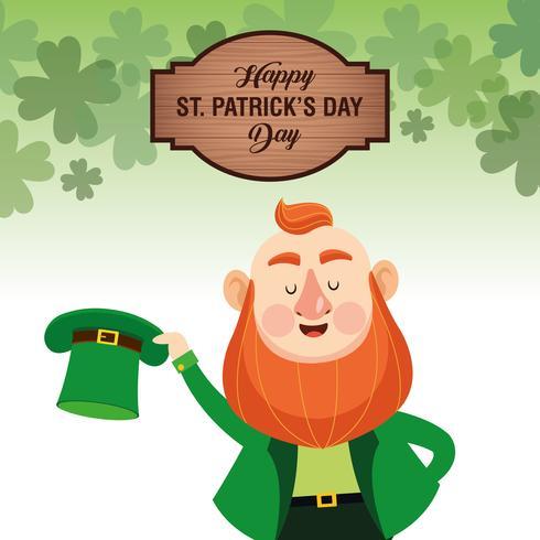 Happy saint patricks day vector