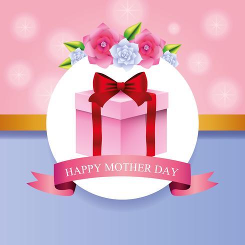 Feliz dia de la madre vector