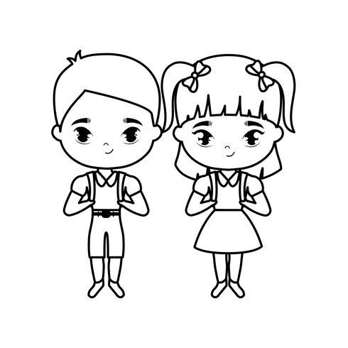 süße kleine Studenten Avatar Charakter
