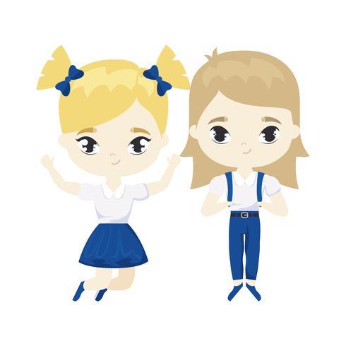 personaggio carino avatar studentesse