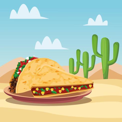 Mexikanisches Essen Cartoons vektor