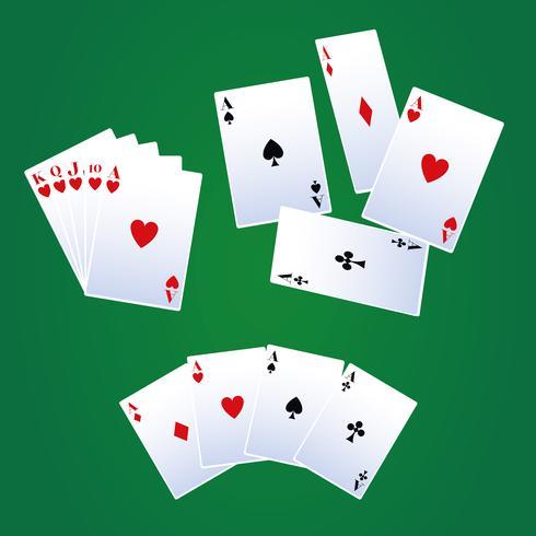 Cartas de ocio de poker vector
